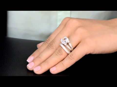 Elizabeth's Fake Engagement Ring & Sasha's Cubic Zirconia Wedding Band
