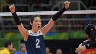 Zhu Ting é uma voleibolista profissional chinesa, campeã olímpica. Nascimento: 29 de novembro de 1994 (22 anos), Zhoukou, ChinaAltura: 1,98 mPeso: 78 kg