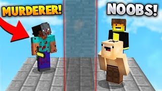 TWO NOOBS HIDE FROM A MURDERER! | Minecraft MURDER MYSTERY