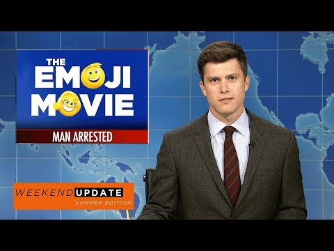 Weekend Update on A Man Arrested at the Emoji Movie - SNL