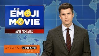 Weekend Update anchors Colin Jost and Michael Che tackle the week's biggest news, including indecent exposure at the Emoji Movie and the Baltimore Police getting caught planting evidence.Get more SNL: http://www.nbc.com/saturday-night-liveFull Episodes: http://www.nbc.com/saturday-night-liv...Like SNL: https://www.facebook.com/snlFollow SNL: https://twitter.com/nbcsnlSNL Tumblr: http://nbcsnl.tumblr.com/SNL Instagram: http://instagram.com/nbcsnl SNL Pinterest: http://www.pinterest.com/nbcsnl/