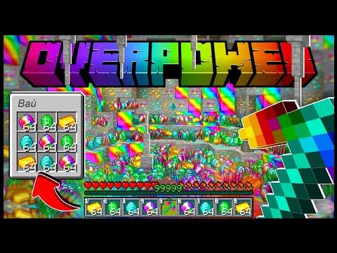 LIMPEI A MINA RECHEADA DE MINÉRIO SECRETO NO MINECRAFT!! - Minecraft Overpower #13