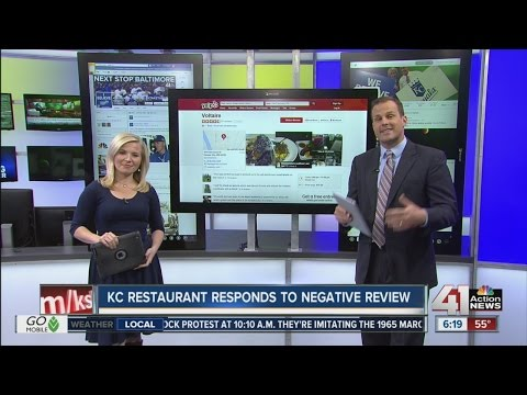 Local restaurant's response to online review goes viral