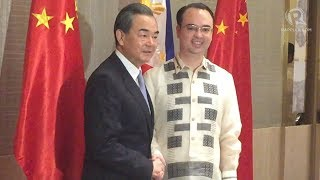 Chinese Foreign Minister Wang Yi makes an official visit to the Philippines and holds a bilateral meeting with Philippine Foreign Secretary Alan Peter Cayetano at Shangri-La, The Fort, on July 25, 2017. Full story: http://rplr.co/2vWuGqrFollow Rappler on Social Media:Facebook - https://www.facebook.com/rapplerdotcomTwitter - https://twitter.com/rapplerdotcomInstagram - http://instagram.com/rapplerYouTube - https://www.youtube.com/rappler/?sub_confirmation=1SoundCloud - https://soundcloud.com/rapplerGoogle+ - https://plus.google.com/+Rappler/Tumblr - http://rappler.tumblr.com/http://www.rappler.com/