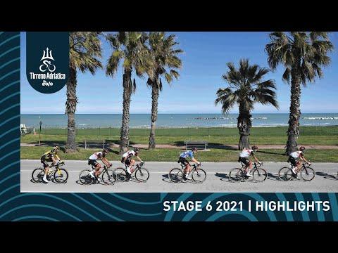 Tirreno-Adriatico EOLO 2021   Stage 6 Highlights видео