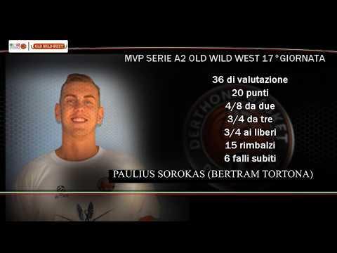 Serie A2 Old Wild West: MVP 17. giornata Paulius Sorokas