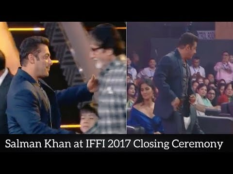 Salman Khan at IFFI 2017 Closing Ceremony || International Film Festival of India 2017 || (видео)