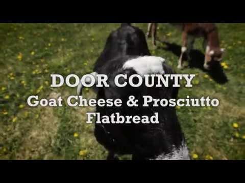 Savor Door County - Goat Cheese and Prosciutto Flatbread