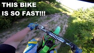 8. KX 125 Top Speed!!! & Some Trail Riding - Kx 125 Moto Vlog #37