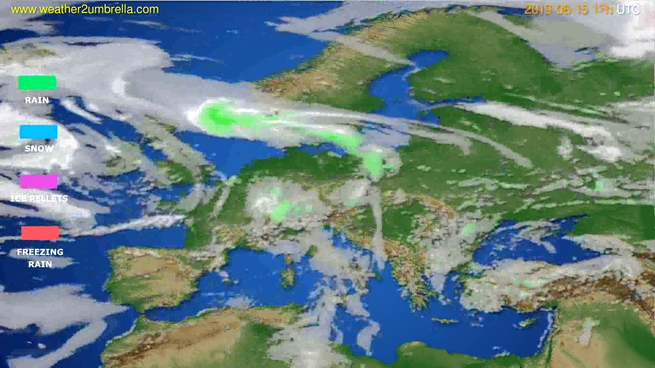 Precipitation forecast Europe // modelrun: 00h UTC 2019-06-14