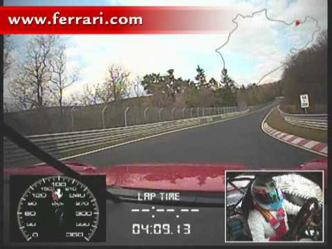 Nurburgring - The Ferrari 599XX is the first ever production-derived sports car to break the 7-minute barrier on the classic 20.832 km Nordschleife circuit, lapping in 6 m...