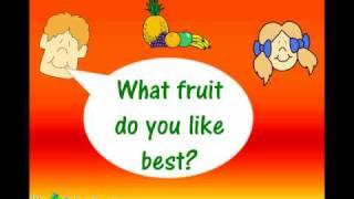 Fruits Vocabulary ESL Lesson