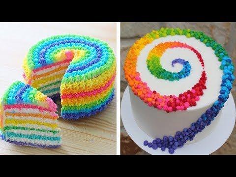 How To Make A Easy Buttercream Unicorn Cake | Colorful Birthday Cake Ideas | #9