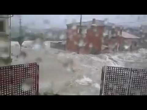 inundaciones en Cenicientos Madrid España 07/07/17