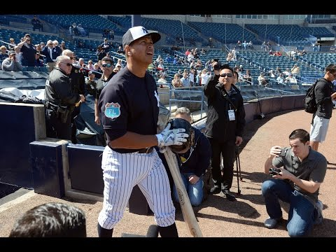 Video: Alex Rodriguez arrives at Yankees camp