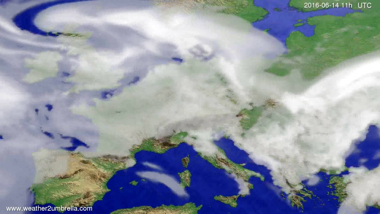 Cloud forecast Europe 2016-06-11
