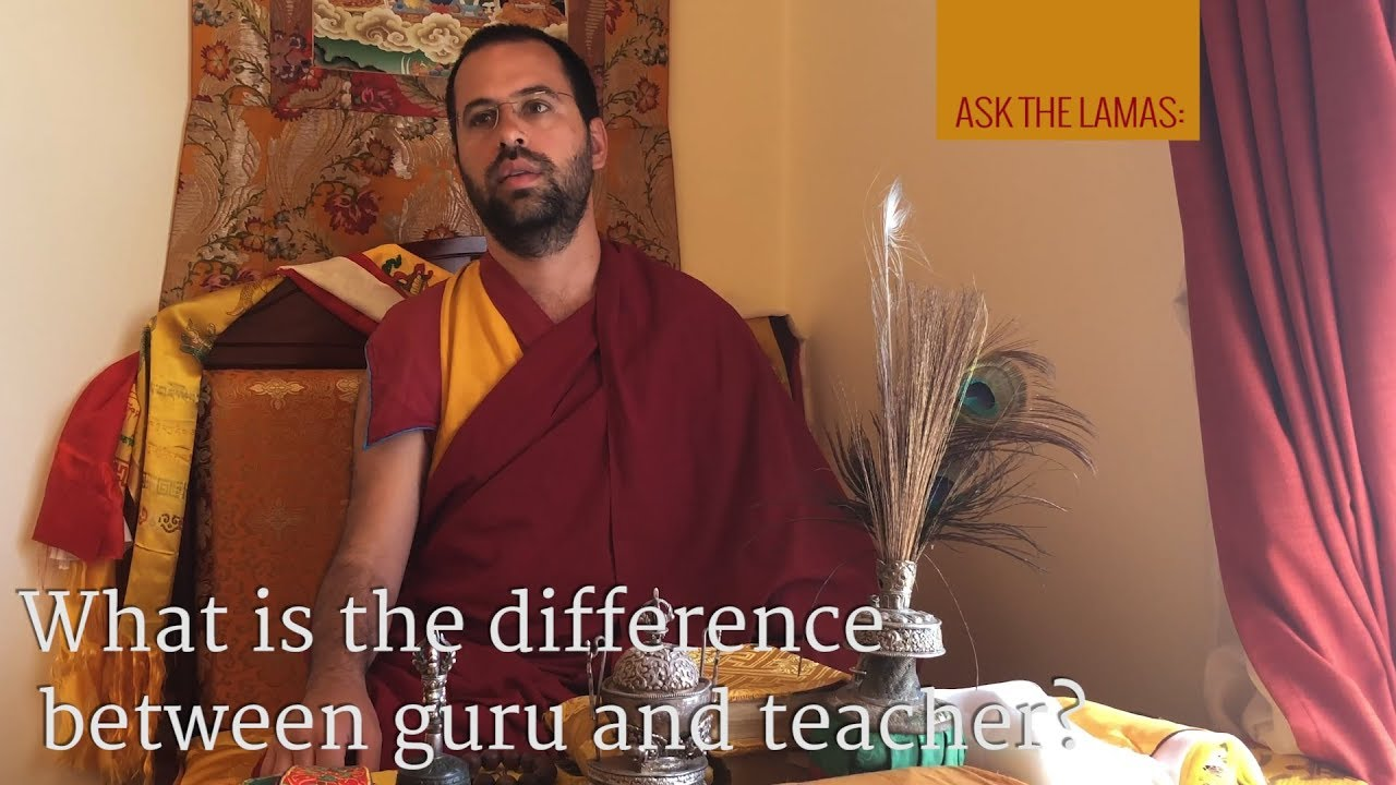 What is the difference between 'guru' and 'teacher'?