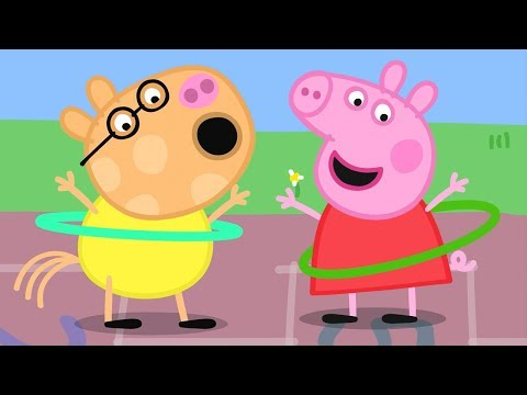 Peppa Pig English Episodes | Skipping And Hula Hooping With Peppa Pig! Peppa Pig Official