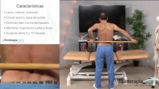 Como relajar las lumbares con un auto-masaje con palo.Fisioterapia-online.com