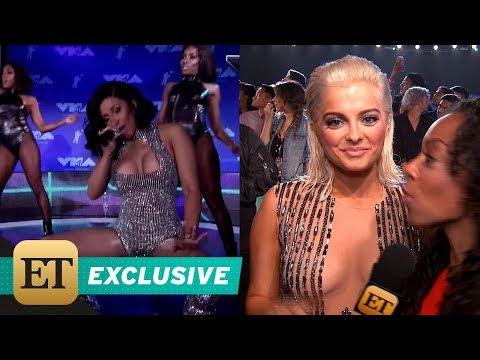 EXCLUSIVE: Bebe Rexha Fangirls Over Cardi B and Sings 'Bodak Yellow' -- Watch!