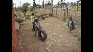 Playing with kids in Thaba Nchu. Video is noisy because of wind TURN VOLUME DOWN!