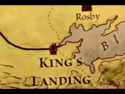 Game of Thrones: The Lands of Ice and Fire Maps (A Fan Video with Intro Music!!)