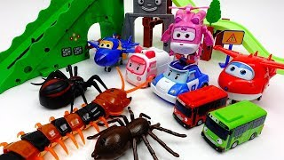 Video Go Super Wings & Robocar Poli~! Defeat Giant Monsters MP3, 3GP, MP4, WEBM, AVI, FLV Oktober 2018