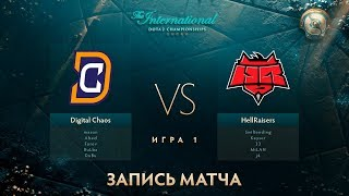 Digital Chaos vs Hellraisers, The International 2017, Групповой Этап, Игра 1