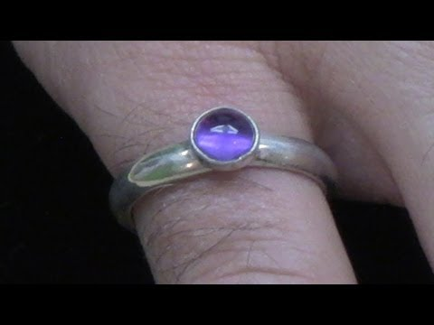 Soldering a Bezel Cup to a Silver Ring and Setting a Cabochon Stone LV
