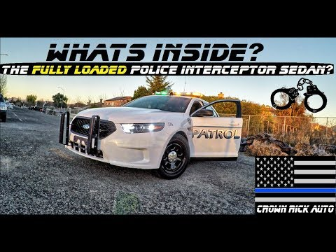 Whats Inside The Fully Loaded Police Interceptor Taurus Patrol Car?