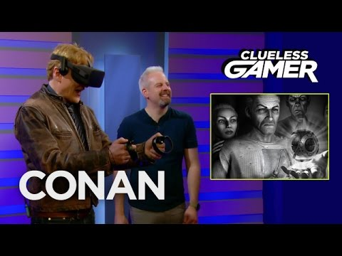 Conan O Brien Immerses Into a Creepy Black and White World While Playing the New VR Horror Game  Wilson  s