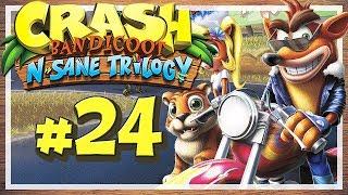 """Let's Play Crash Bandicoot N. Sane Trilogy - Part 24 - Showdown im Kolosseum! [HD • 60fps • Blind • Deutsch]★ LETSPLAYmarkus abonnieren! ► http://goo.gl/ck1zgM★ Crash Bandicoot N. Sane Trilogy Playlist ► https://goo.gl/n15WrL★ Alle Let's Plays Übersicht ► http://goo.gl/irwbPr★ Offizielle Facebook-Page ► http://goo.gl/G7i8ve★ Offizielle Twitter-Page ► http://goo.gl/99sL40········································································➜ EURE UNTERSTÜTZUNG IST GEFRAGT!Mit nur einem Klick kannst du viel helfen! Like dieses Video mit einem """"Daumen Hoch"""" um das Spiel, das Let's Play und meinen Kanal zu unterstützen! Wenn du immer über neue Videos meines Kanals informiert werden möchtest, kannst du meinen Kanal Abonnieren - Das ist natürlich kostenlos und dient dazu, dass du kein Video mehr verpasst! Hier klicken » http://goo.gl/ck1zgM···················································································➜ INFORMATIONEN ÜBER DIESES VIDEO:Gezeigte Level / Stages in diesem Part:• Makin' Waves• Tiny Tiger• Gee Wiz• Hang'em high• Hog Ride········································································➜ INFORMATIONEN ÜBER """"CRASH BANDICOOT N. SANE TRILOGY"""":Als Sony Mitte der 90er Jahre mit der ersten PlayStation in das Konsolengeschäft einstieg, schien der Technikriese einiges richtig zu machen. Doch es fehlte zunächst ein Maskottchen, eine Art Galleonsfigur, wie Nintendos Super Mario oder Segas Sonic the Hedgehog. Am ehesten dürfte """"Crash Bandicoot"""" für Sony diese Rolle übernommen haben: Entwickelt von Naughty Dog und gepublished von Sony selbst, erschien der Beuteldachs 1996 auf der Sony PlayStation und konnte mit tollen 3D-Stages und frischem Gamplay überzeugen. Es folgten Fortsetzungen auf besagter PS1 sowie nachfolgenden Systemen, wo sich Crash Bandicoot jedoch nicht mehr für das """"Fremdgehen"""" auf Konkurrenzkonsolen zu schade war. Mit den Jahren schwand seine Präsenz auf dem Videospielmarkt und das letzte Crash-Game erschien im Jahre 2010, ehe ein"""