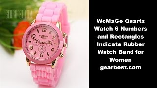 I just got this WoMaGe Quartz Watch 6 Numbers and Rectangles Indicate Rubber Watch Band for Women from gearbest.comhttp://www.gearbest.com/women-s-watches/pp_20633.htmlRound dial design makes the watch unique.There are three circles on the dial to decorate the watch.Silicon band for comfortable wearing.Solid stainless steel back cover.