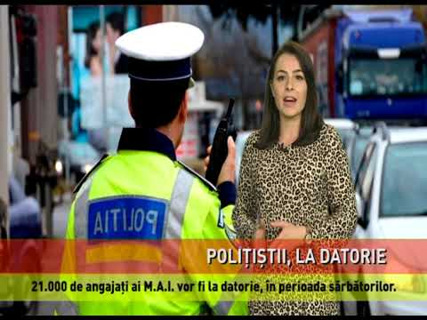 Poliția Română, la datorie de sărbători