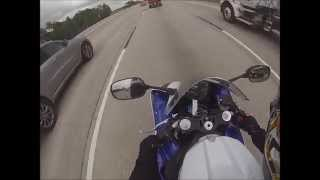 4. Accelerating in A Mode 2014 Yamaha R1 Crossplane - Are you Ready 1000cc Riding