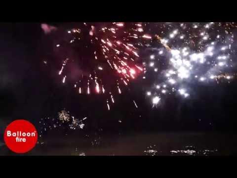 Πυροτεχνήματα στη θάλασσα Ακταίο Πάτρα