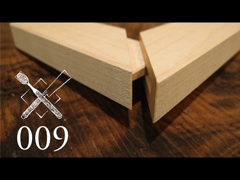 Joint Venture Ep. 9:Hidden, mitered and dovetailed mortise and tenon (Western / Japanese Joinery)
