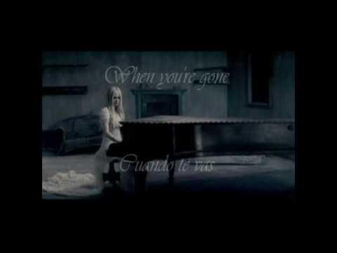 When you're gone - Avril Lavigne English/Spanish lyrics