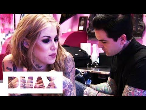 Kat Von D Gets A Tattoo Of Singer Johnette Napolitano   LA Ink