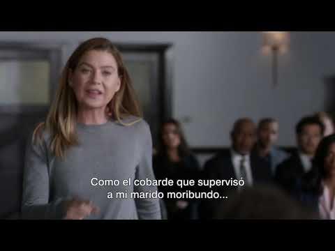 Meredith confronta al doctor que mató a Derek l Grey´s Anatomy
