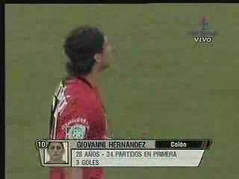 Gol de Giovanni Hernández para Colón vs River Plate