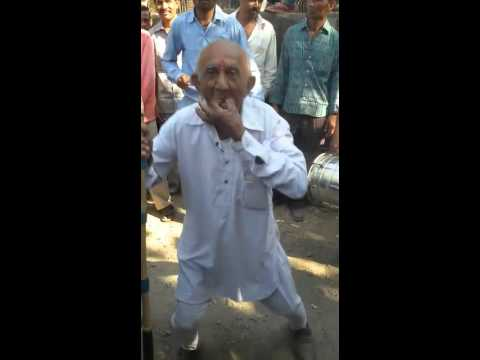 Old Man Dancing Funny India In Marriage Festival