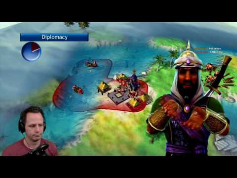 Civ Rev Multiplayer FFA: England vs China, Aztecs, Arabs