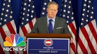 Incoming White House Press Secretary Sean Spicer Defends Donald Trump's Cabinet Diversity | NBC News