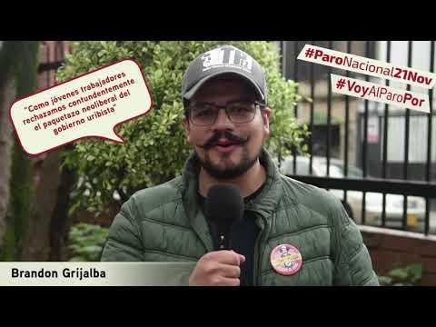 Brandon Grijalba va al #ParoNacional21N