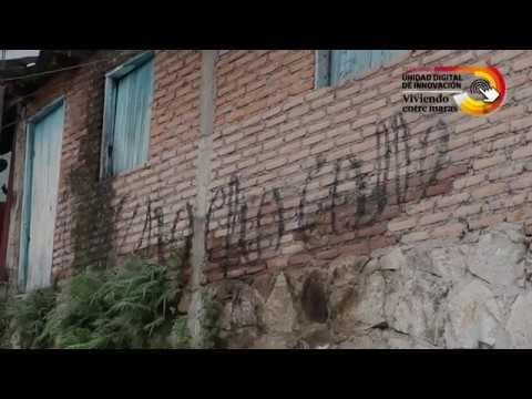 Los placazos y grafitis de la pandilla 18 en la capital de Honduras