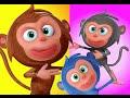 Five Little Monkeys Jumping On The Bed Nursery Rhyme   Videogyan 3D Kids Rhymes