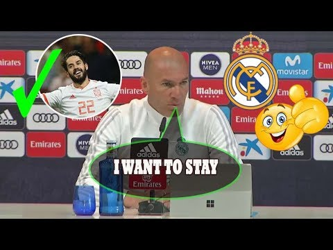 ZINEDINE ZIDANE PRESS CONFERENCE: [I WANT TO STAY AT REAL MADRID], [ISCO HAS A FUTURE AT MADRID]!