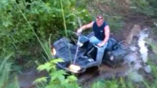 8. Getting the 2007 Suzuki King Quad 700 4x4 out of the mud