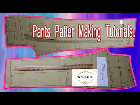 How To Make Men's Dress Pant Pattern-English Audio Trouser Pattern